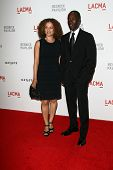 Don Cheadle and wife at LACMA presents