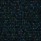 Repeating Blue Hexadecimal Background