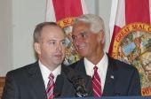 Florida senador George LeMieux & governador Charlie Crist