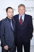 Sam Rockwell and Harrison Ford  at the  17th Annual Women in Hollywood Tribute, Four Seasons Hotel, Los Angeles, CA. 10-18-10