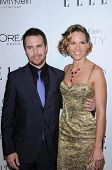 Sam Rockwell and Hilary Swank at the  17th Annual Women in Hollywood Tribute, Four Seasons Hotel, Los Angeles, CA. 10-18-10