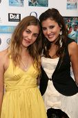 Caitlin Wachs and Zoe Myers  at a screening of