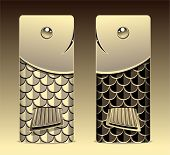 Bumper with seamless pattern fish scale gold