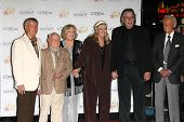 Roger Williams, Mickey and Jan Rooney, Diane Ladd, Jim Ladd and Bob Barker  at thr Hollywood Walk of