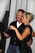 Jennie Garth and Ian Ziering at the Jennie Garth 40th Birthday Celebration, The London, West Hollywood, CA 04-19-12