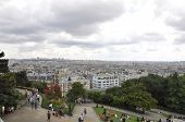 PARIS,FRANCE-AUGUST21-View of Paris from Sacre Coeur Basilica
