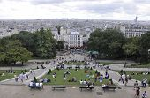 PARIS,FRANCE-AUGUST 19-Park of Sacre Coeur Basilica in Paris