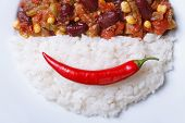 Time For Lunch: Chili Con Carne And Rice