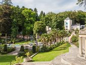 Italian Inspired Ornate Buildings In Portmeirion, Wales