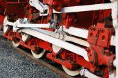 Old Steam Train Wheels Closeup