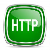 http glossy computer icon on white background