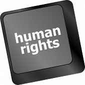 Arrow Button With Human Rights Word