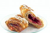 foto of confectioners  - Cherry bavarian cream strudel with confectioner