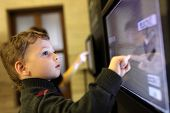 Child Using Touch Screen