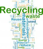 picture of waste management  - Background concept illustration of recycling waste materials - JPG