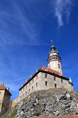 Landscape Of Cesky Krumlov Castle From The Bottom