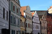 View Of Colorful Houses In Cesky Krumlov