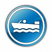 Icon, Button Motorboat