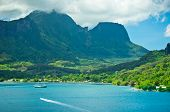 image of french polynesia  - Paradise view of Moorea Islands Cook - JPG