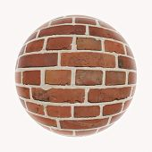 picture of mortar-joint  - A wall hanging as a ball against white background - JPG