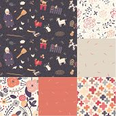 A set of seamless patterns