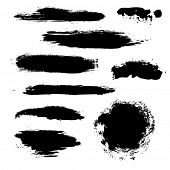 Black Blobs Set, Vector Illustration