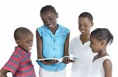 Four African Kids Learning Together