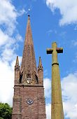 Church spire and cross, Weobley.