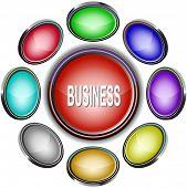 Business. Internet icons. Raster illustration.