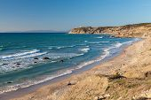 Atlantic Ocean Coastal Landscape, Gibraltar Strait, Tangier, Morocco