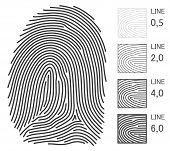 Líneas de impresión de dedo
