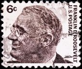 Postage Stamp With Usa President Franklin Roosevelt
