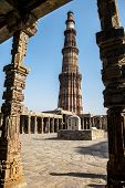 stock photo of qutub minar  - The qutub minar complex delhi in india - JPG