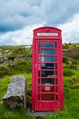 Ttraditional red telephone booth