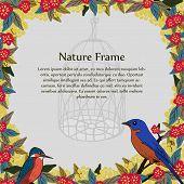 Template of flower frame