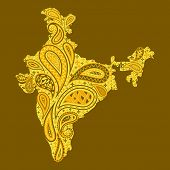 Floral map of India