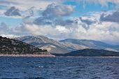 Croatian Coastline View From The Sea