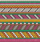 Colorful ethnic print. Vector seamless background.