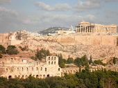 image of parthenon  - Beautiful greek parthenon temple acropolis Athens - JPG