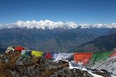 Praying-flags and Manaslu
