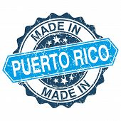 Made In Puerto Rico Vintage Stamp Isolated On White Background