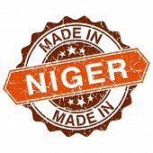 Made In Niger Vintage Stamp Isolated On White Background