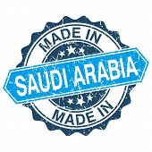 Made In Saudi Arabia Vintage Stamp Isolated On White Background