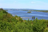 Beautiful Countryside And The River Dnepr