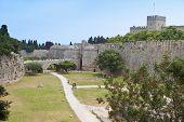 Castle of Rhodes island in Greece