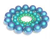 Three rings of balls