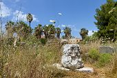 Kos island in Greece. The ancient Agora