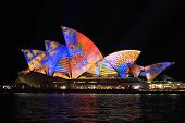 Sydney Opera House In Multicolour