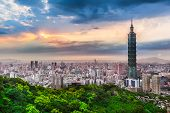 Taipei City View at Evening