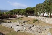 Kos island in Greece. Ancient city site